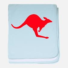 Hopping Kangaroo baby blanket