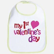 My 1st Valentine's Day Bib