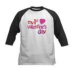 My 1st Valentine's Day Kids Baseball Jersey