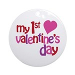 My 1st Valentine's Day Ornament (Round)
