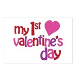 My 1st Valentine's Day Postcards (Package of 8)