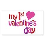 My 1st Valentine's Day Sticker (Rectangle)