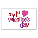 My 1st Valentine's Day Sticker (Rectangle 10 pk)