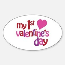 My 1st Valentine's Day Sticker (Oval)