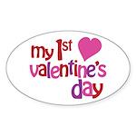 My 1st Valentine's Day Sticker (Oval 50 pk)