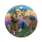 StFrancis-Pony Ornament (Round)