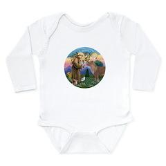 StFrancis-Pony Long Sleeve Infant Bodysuit