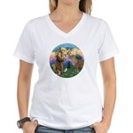 StFrancis-Pony Women's V-Neck T-Shirt