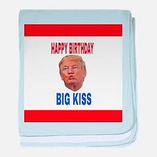 HAPPY BIRTHDAY BIG KISS baby blanket