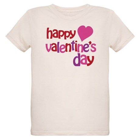 Happy Valentine's Day Organic Kids T-Shirt