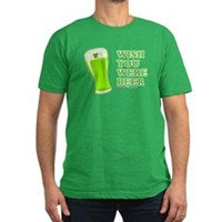 Wish You Were Beer Men's Fitted T-Shirt (dark)
