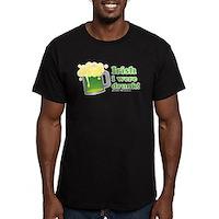Irish I Were Drunk Men's Fitted T-Shirt (dark)