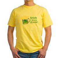 Irish I Were Drunk Yellow T-Shirt