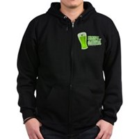 Irish Today Hungover Tomorrow Zip Hoodie (dark)