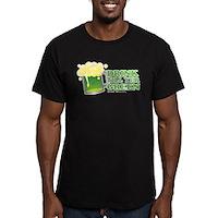 Drink Till Yer Green Men's Fitted T-Shirt (dark)