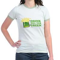 Drink Till Yer Green Jr. Ringer T-Shirt