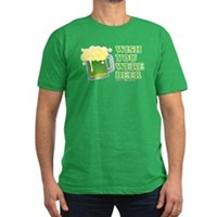 St Patrick's Wish You Were Beer Men's Fitted T-Shi