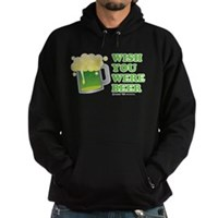 St Patrick's Wish You Were Beer Hoodie (dark)