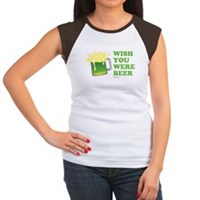 St Patrick's Wish You Were Beer Women's Cap Sleeve