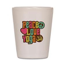 Peace Love Yoga Shot Glass