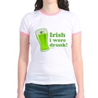 St Patrick's Irish I Were Drunk Jr. Ringer T-Shirt