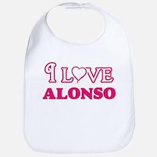 I Love Alonso Baby Bib