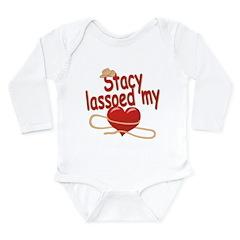 Stacy Lassoed My Heart Long Sleeve Infant Bodysuit