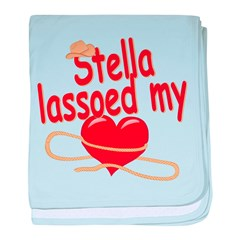 Stella Lassoed My Heart baby blanket