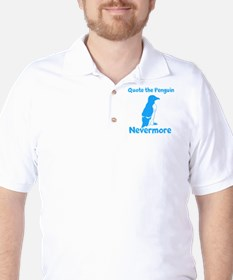 Penguin Quote Nevermore Golf Shirt