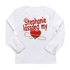 Stephanie Lassoed My Heart Long Sleeve Infant T-Sh
