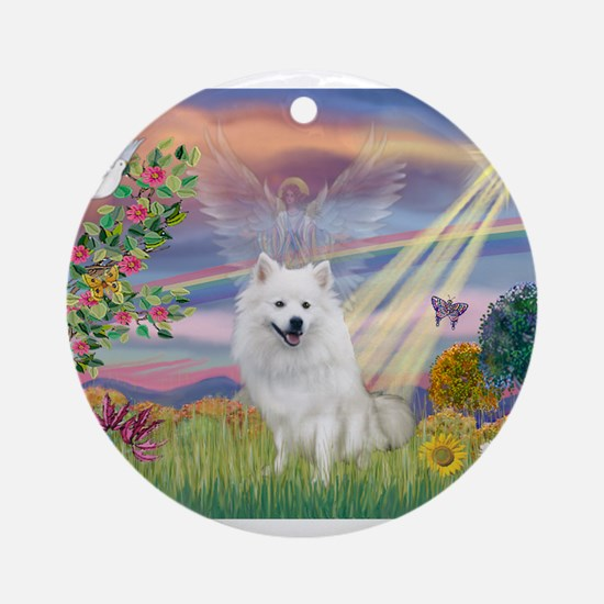 Cloud Angel / Eskimo Ornament (Round)