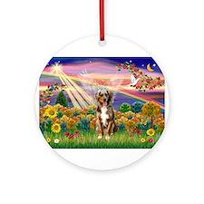 Autumn Angel / Aussie (rm) Ornament (Round)