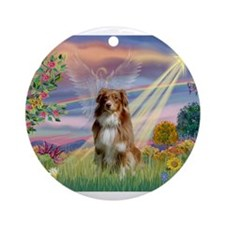 Cloud Angel / Aussie (rm) Ornament (Round)