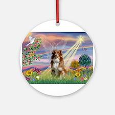 Cloud Angel / Aussie (rm) Ornament (Round)
