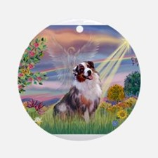 Cloud Angel / Aussie (bm) Ornament (Round)