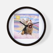 Australian Terrier Angel Wall Clock