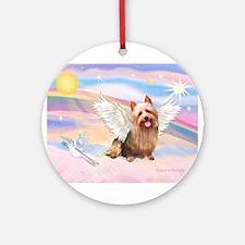 Australian Terrier Angel Ornament (Round)