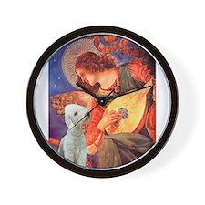 Mandolin /Bedlington Terrier Wall Clock