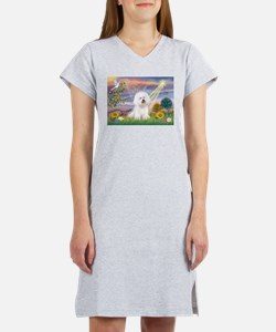 Cloud Angel & Bichon Women's Nightshirt
