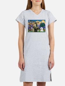 St Francis / Bichon Frise Women's Nightshirt