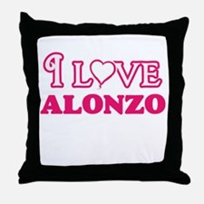 I Love Alonzo Throw Pillow