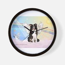 Border Collie Angel Wall Clock