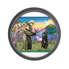 St Francis & Bouvier Wall Clock