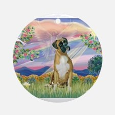 Cloud Angel & Boxer Ornament (Round)