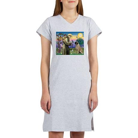 Saint Francis / Bullmastiff Women's Nightshirt