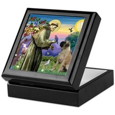 Saint Francis / Bullmastiff Keepsake Box