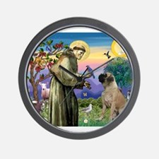 Saint Francis / Bullmastiff Wall Clock
