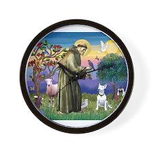 Saint & Bull Terrier Wall Clock