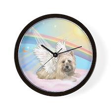 Angel / Cairn Terrier Wall Clock