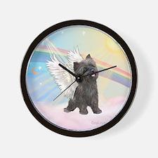 Angel / Cairn Terrier (brin) Wall Clock